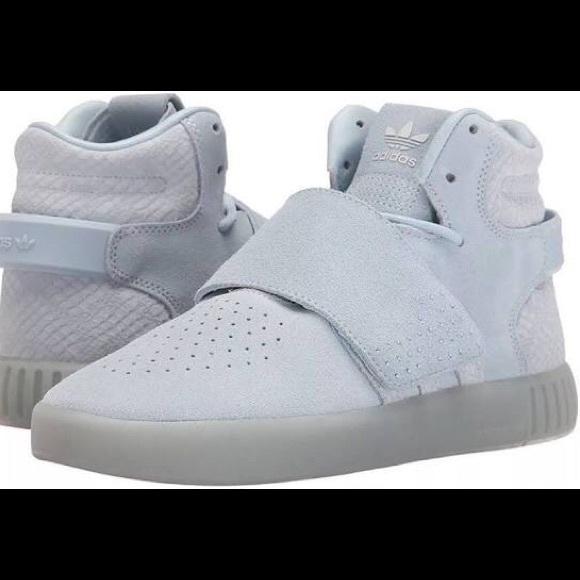 A veces a veces Posada Espíritu  adidas Shoes | Tubular Invader Strap Light Blue Suede | Poshmark